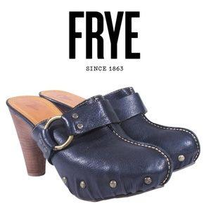 NWOB Frye Reese Ring Mule Clogs Black